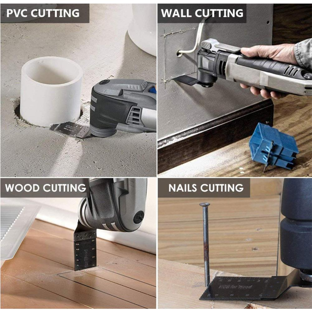 Tools : 22PCS Oscillating Saw Blades Multifunctional Repair Tools For Wood Metal Plastic