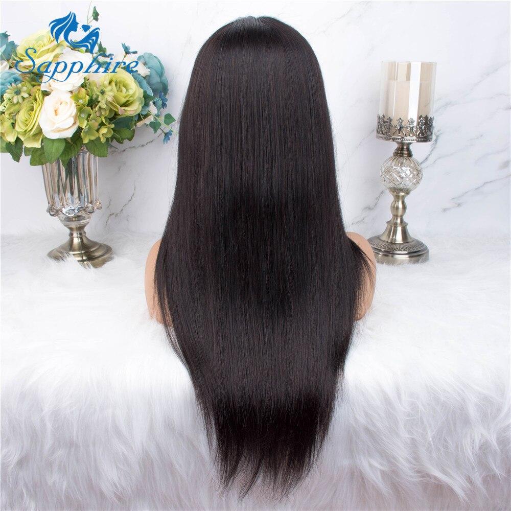 H37d525f964244b3cad080fef6c0acc180 Sapphire Straight Hair Brazilian Lace Wig 4*4 Lace Closure Wig Human Hair Wigs Straight Preplucked Brazilian Human Hair Wigs