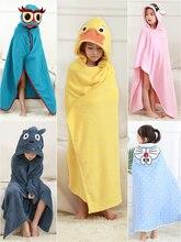 Nouveau né coton bébé serviette pour enfants trucs bébé serviette de bain bébés à capuche Poncho serviettes coton enfants serviette de bain animaux de bande dessinée