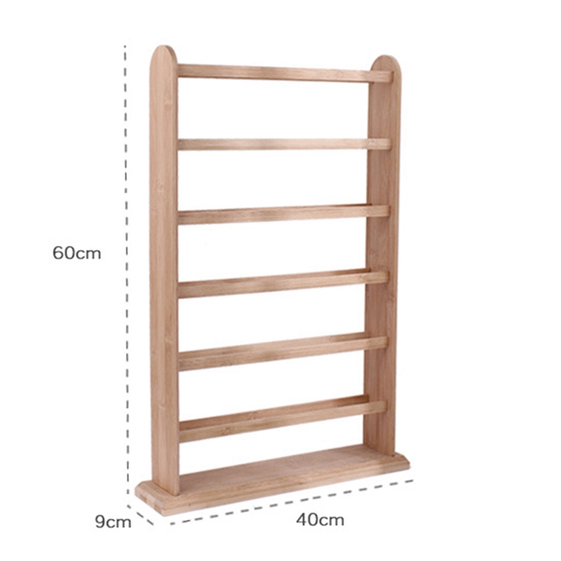 Wooden Jewellery Organizer Rack Earrings Holder Necklace Bracelet Stand Rotating Keyring Display Storage Jewelry Display Stand
