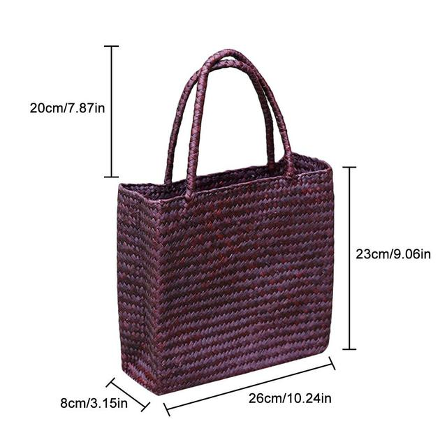 Handmade Woven Tote Straw Bag Large Shopping Hand Bags for Summer Beach Travel 4