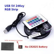 Listwy RGB LED światła 5V USB 60 diod LED/m 2835 LED SMD elastyczna taśma HDTV TV pulpit PC dolny ekran oświetlenie 1M 2M 3M 4M 5M