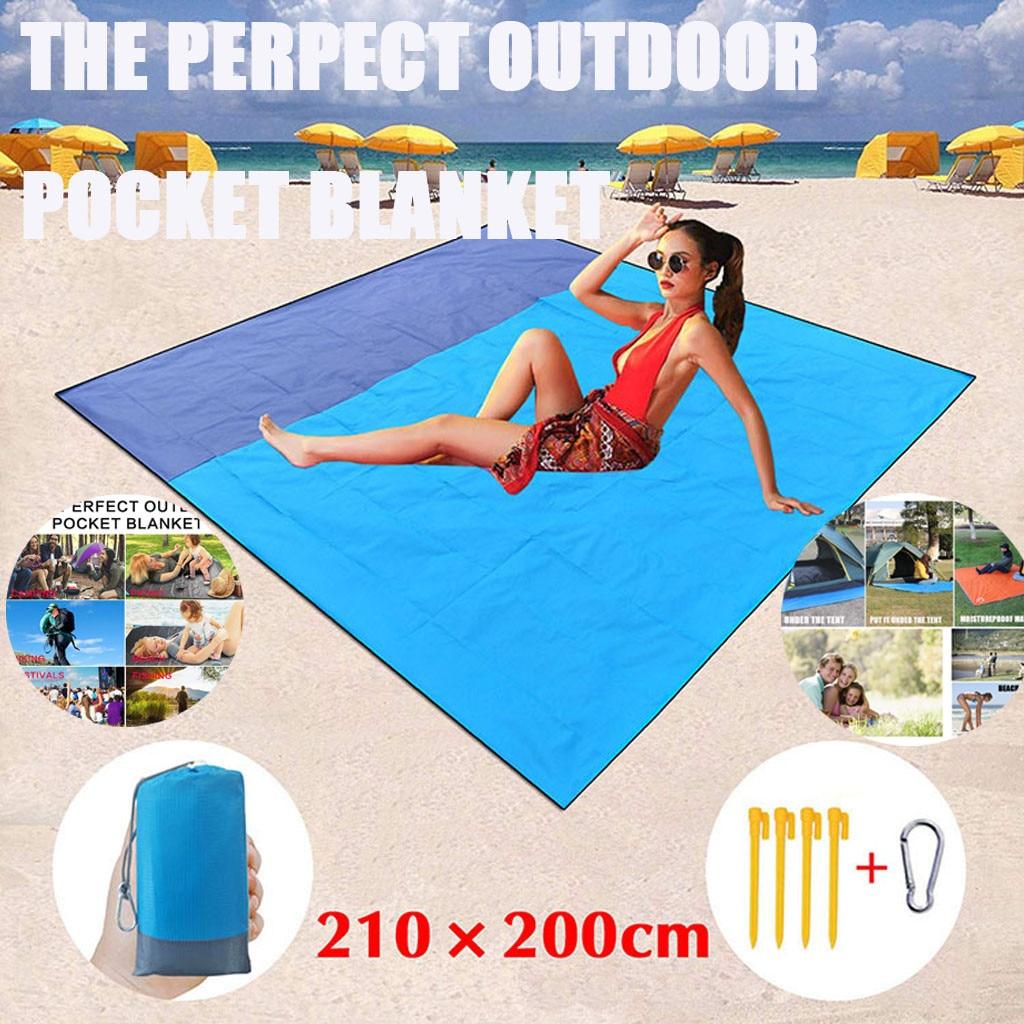 Outdoor Beach Mat Waterproof Sandproof Fancy Insulation Waterproof Picnic Mat Outdoor Waterproof Beach Blanket Portable Folding