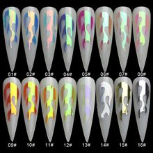 16 Styles 6*8cm Holographic Fire Flame Hollow Stickers Fires Thin Laser Silver Stripe Nail Art StickersDIY Manicure Tool(China)