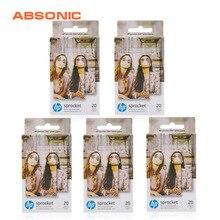 "100Sheets  Sprocket Zink Sticker Photo Paper 2x3"" Designed for HP Sprocket or HP Sprocket 2 in 1 Photo Printing 5 Box on AliExpress"