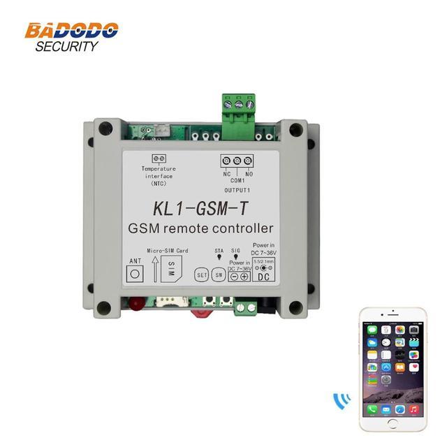 نظام حماية GSM لاسلكي التحكم عن بعد التتابع التبديل تحكم في الوصول مع 10A التتابع الناتج NTC استشعار درجة الحرارة