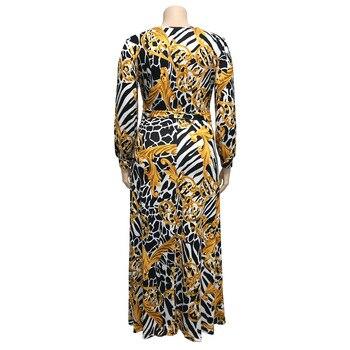 Mirsicas Fashion Print Plus Size Dress
