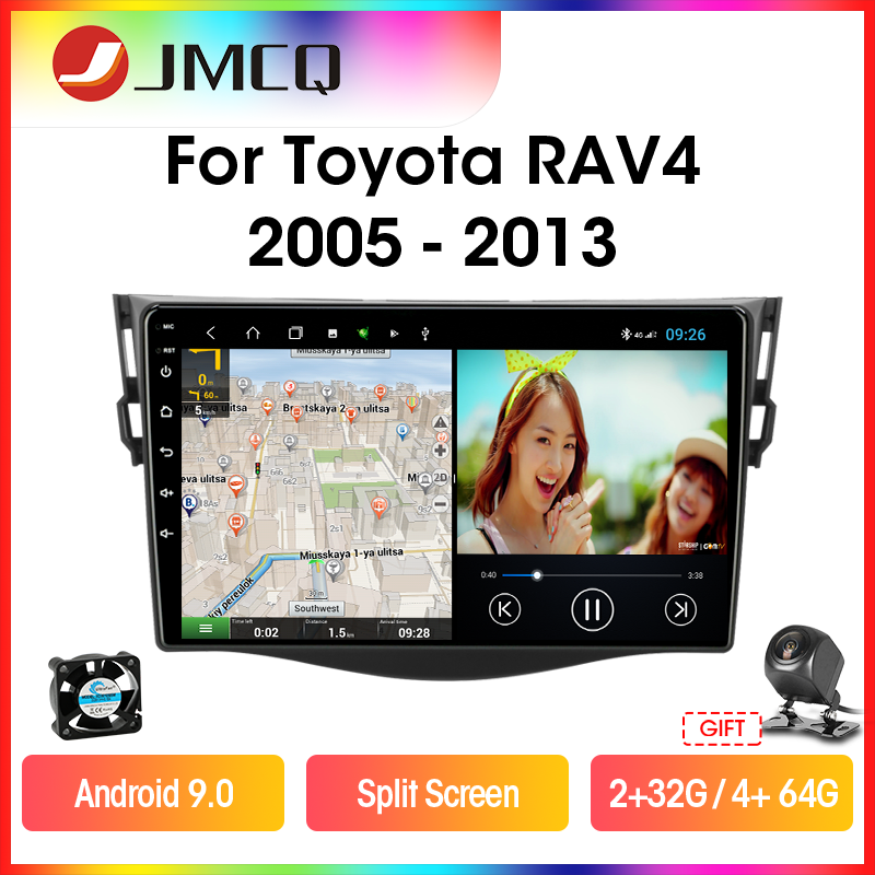 JMCQ T9 For Toyota RAV4 Rav 4 2005-2013 Car Radio Multimidia Video Player 2 din DSP RDS 4G GPS Navigaion Split Screen Head Unit