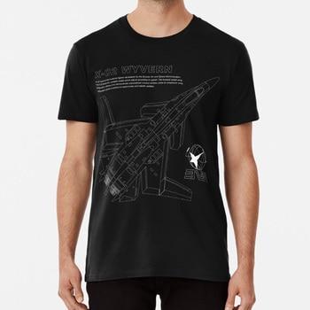 Ace Combat-Camiseta x-02 Wyvern Blueprint para niños, juego de vídeo Fighter Jets...