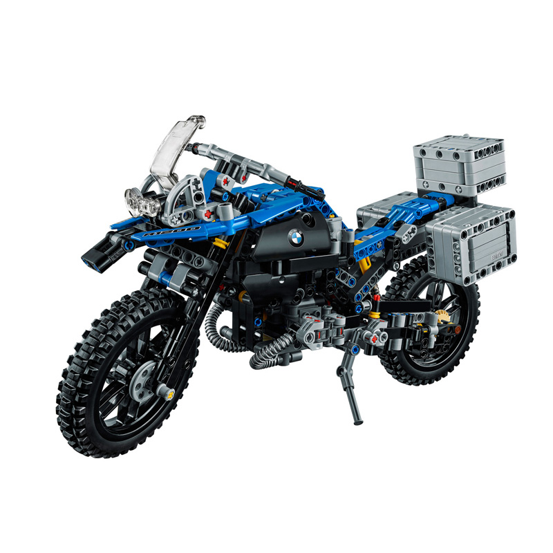 Motorcycles Compatible With <font><b>Legoing</b></font> Technic <font><b>42063</b></font> Model Building Blocks 608 Pcs Bricks Boy Birthday Gift DIY Toys For Children image