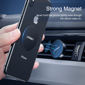 Ugreen Car Phone Holder Metal Plate Magnet Disk For iPhone x Magnetic Stand Support Smartphone Voiture Accessory Celular Holder 1