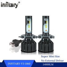 Iinfitary V3 14000LM 1860 Chip H7 LED Car Headlight H1 H8 H9 H10 H11 H3 H27 881 881 9005 HB3 9006 HB4 H4 9004 HB1 9007 HB5