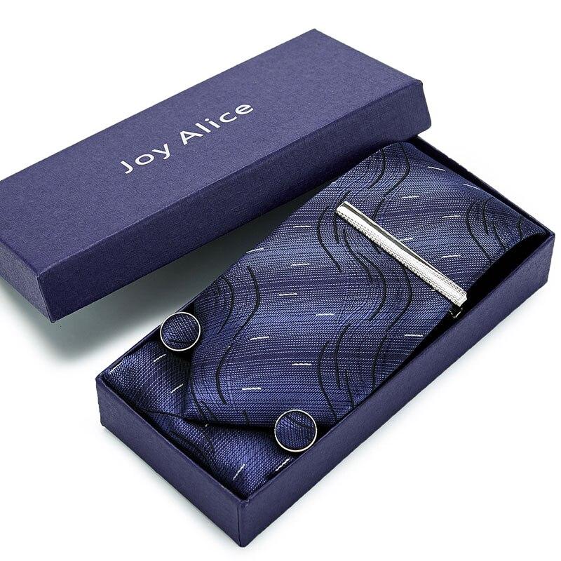 Gift Box Original 8cm Gravata Classic Men's Tie Polka Dot Tie Business Wedding Business Tie Kit Pocket Square Brooch Set