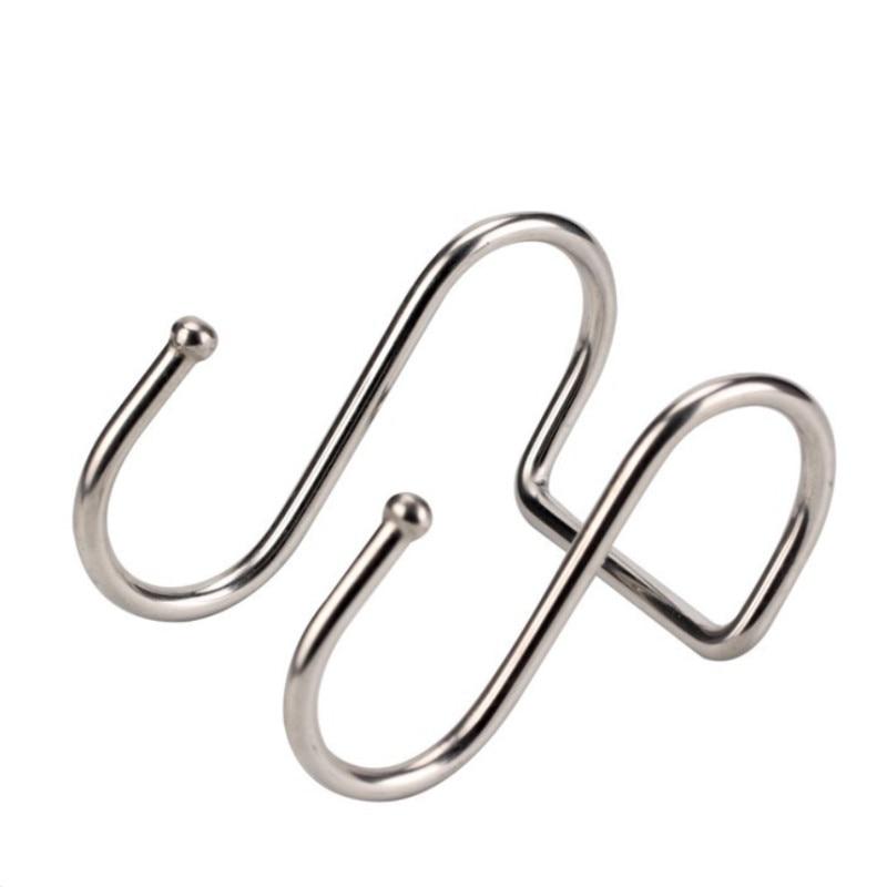 Двойной Крючок для хранения в форме S из нержавеющей стали для ванной комнаты, кухонной стены и двери, органайзер, аксессуары, кошелек, крючок, вешалка для ключей|Крючки и направляющие|   | АлиЭкспресс