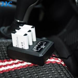 Image 5 - JJC USB לשלושה סוללה מטען עבור Ricoh GRIII WG6 אולימפוס קשה TG6 TG5 TG4 TG3 TG2 TG1 מצלמות עבור Ricoh DB 110 אולימפוס LI 90B