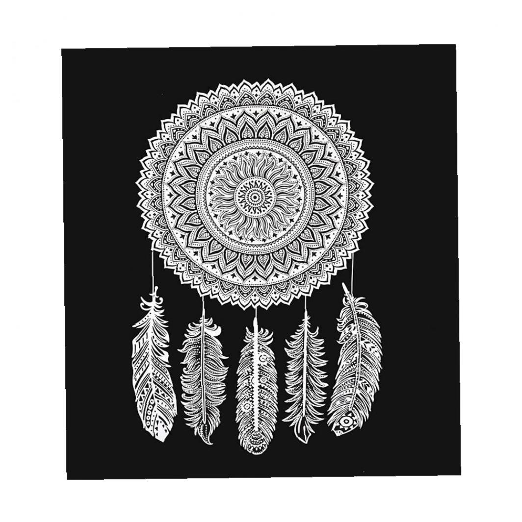 Dream Catcher Tapestries Wall Hanging Bohemian Hippie Throw Bedspread Home Decor