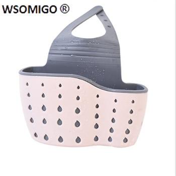 1pcs Kitchen Tools Organizer Adjustable Snap Sink Soap Sponge Kitchen Accessories Kitchen Hanging Drain Basket Kitchen Gadgets-S 5