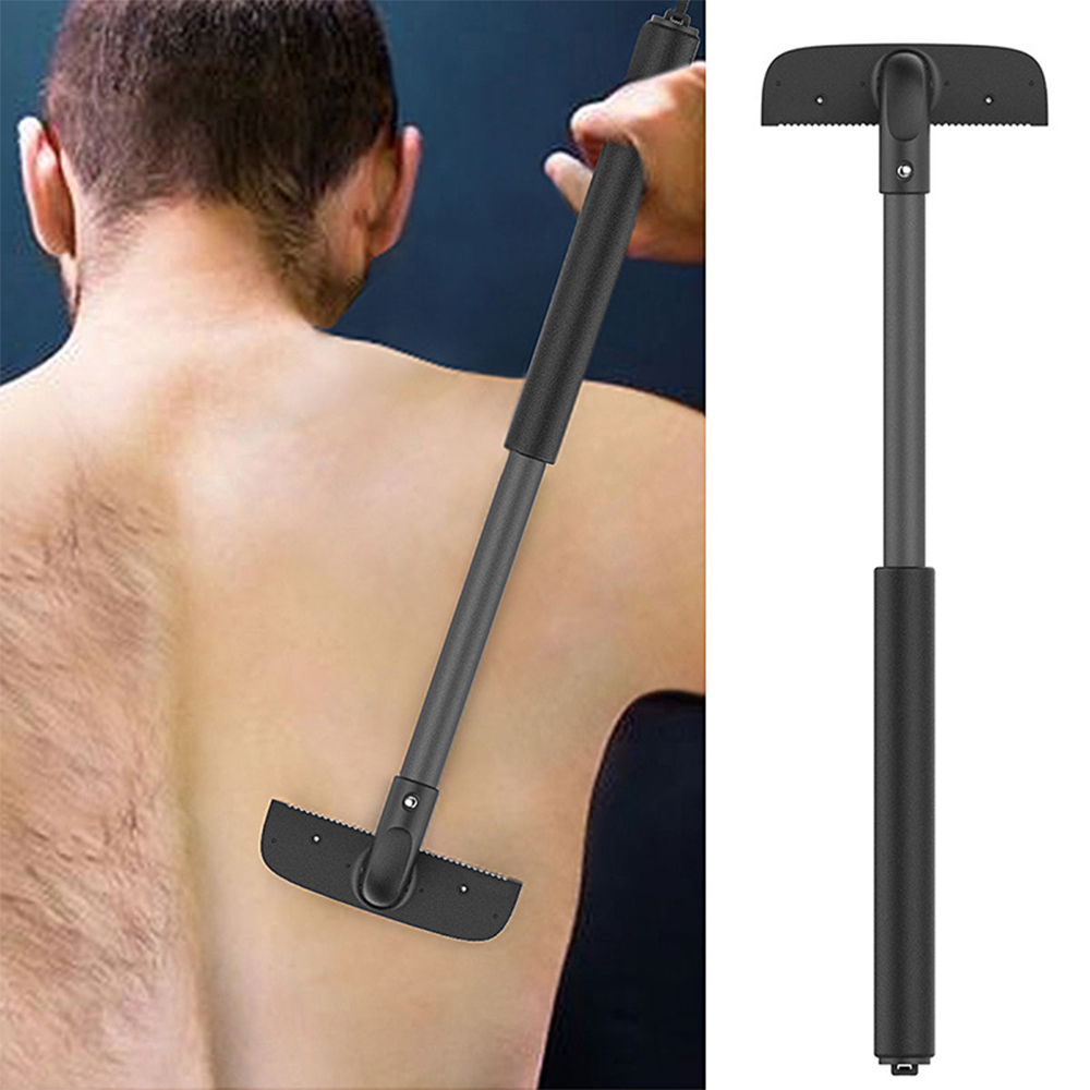 Pinkiou Back Shaver Long Handle Body Shaver For Back Hair Removal With Telescopic Handle And Safety Blades For Men
