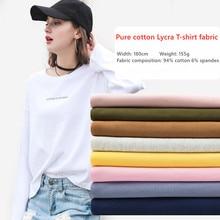 25colors Cotton jersey 40s combed cotton fabric Lycra stretch knit T-shirt vest Fabric wholesale