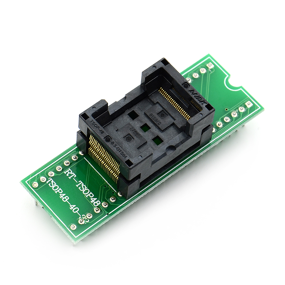 Free Shipping Top Quality TSOP48 To DIP48 Adapter,TSOP48 Test Socket 0.5mm Pitch For RT809F RT809H & For XELTEK USB Programmer