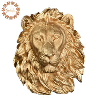 Three color Large Size Lion Head Wall decoration Hanging Wall Animal Head Resin Pendant Wall Ornaments Home Accessories