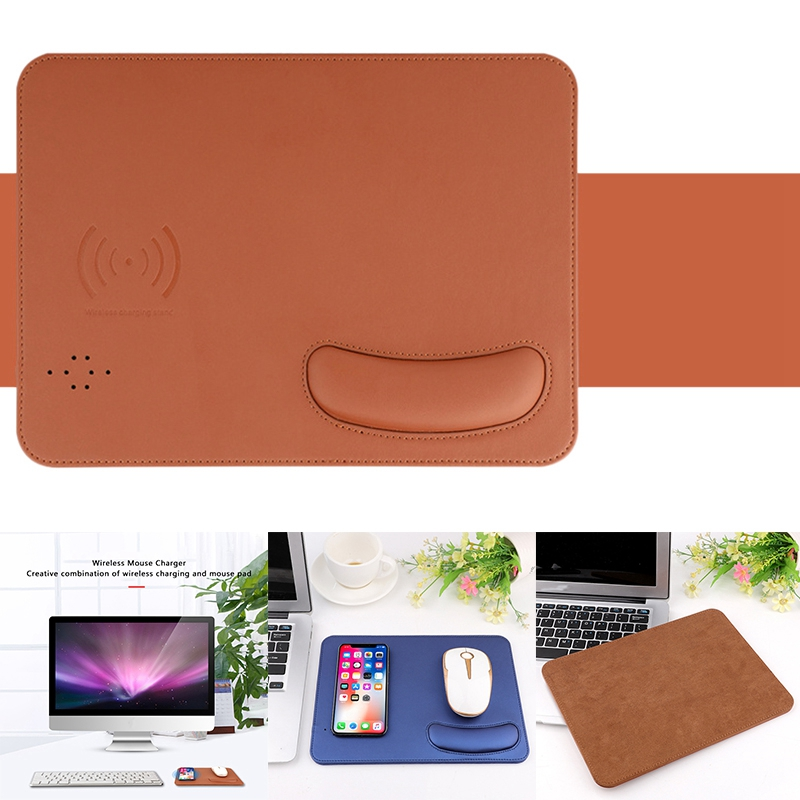LXS-035 Mouse Pad, Non-Slip Wireless Charging Wrist Mouse Pad with Short Circuit Protection for Apple, Samsung