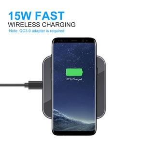 Image 4 - Ascromy 15W Kablosuz Hızlı Şarj Için Samsung S10 Huawei P30 Pro Xiaomi Qi Kablosuz Şarj Pedi Indüksiyon 7.5W iPhone X için XR