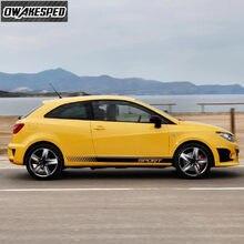 Pour-Seat Ibiza FR TGI ST Cupra – autocollants en vinyle, accessoires de voiture, décor de carrosserie, bandes de Sport, jupe latérale de porte de voiture