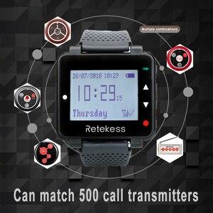 Image 4 - Retekess t128 relógio receptor pager sem fio 433.92mhz para garçom sistema de chamada restaurante equipamentos escritório café