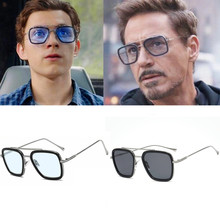 Iron Man Tony Stark Bril Movie Ver Van Huis Peter Parker Cosplay Edith Zonnebril Kostuums Accessoires Gepolariseerde Brillen(China)