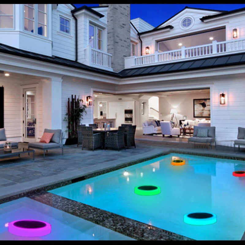 flutuante festa decoração luz com controle remoto