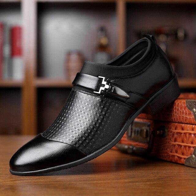 REETENE 2019 Đầm Giày Cưới Giày Da Ý Mũi Nhọn Nam Đầm Giày Tiệc Cưới Giày Nam Oxfords