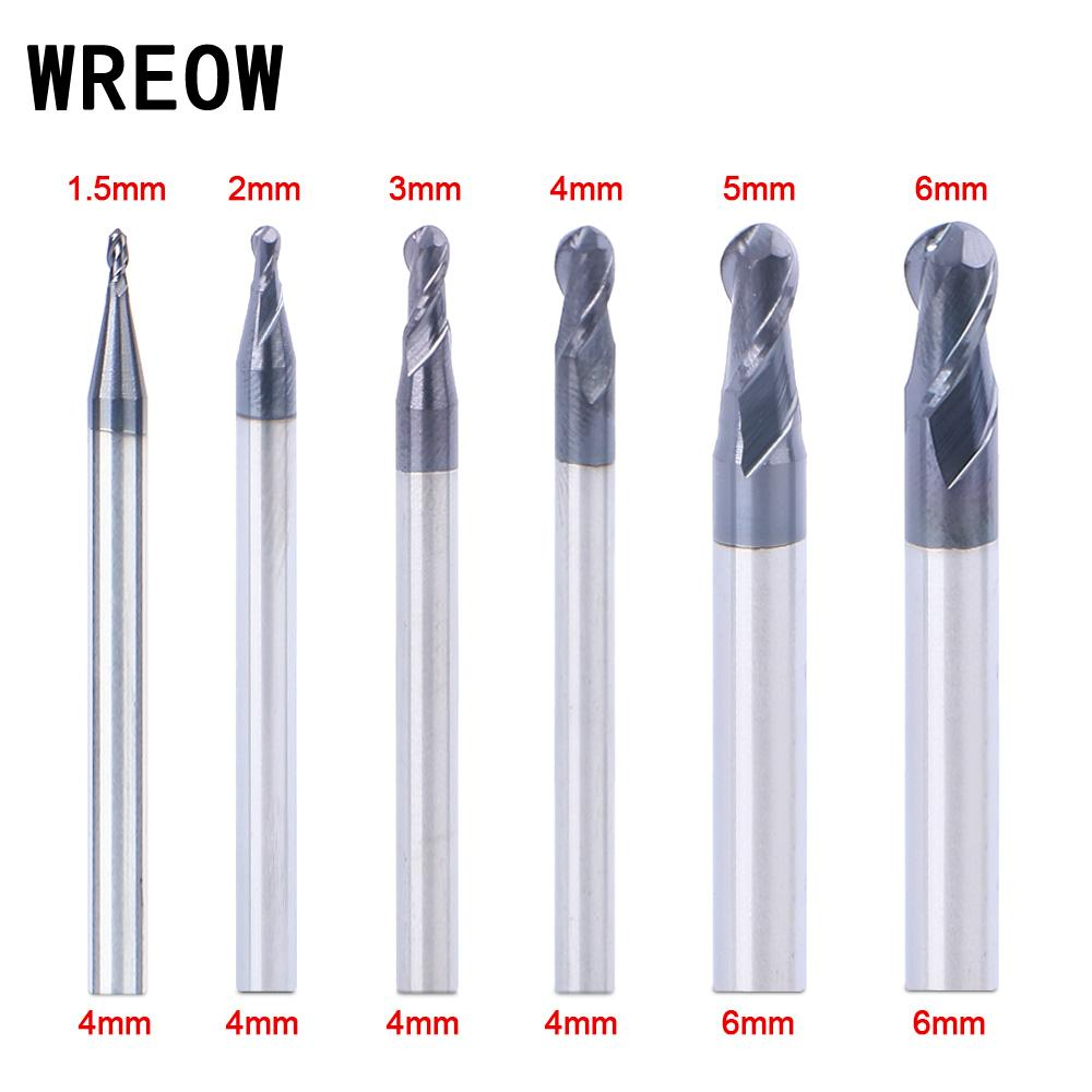 R0.5MM Ball Nose Tungsten Steel 4mm Shank End Mill CNC Router Cutting Tool