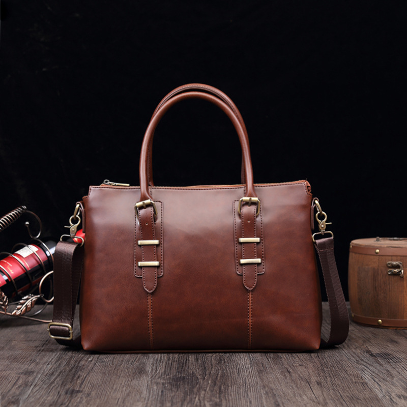 Fashion Brand Business Men Briefcase Bag For Leather 14
