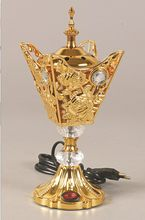 Arab Aroma kuchenka luksusowy elektryczny kadzidło palnika złoty pokój Zapach Zapach Do Domu Difusor De Aroma uchwyt kadzidła MM60XXL