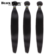 Black pearl Peruvian Hair Weave Bundles 3/4 Deals 100% Straight Human 8 to 30 Inch Remy Extensions