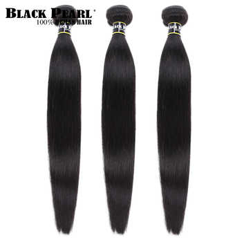 Black pearl Peruvian Hair Weave Bundles 3/4 Bundles Deals 100% Straight Human Hair Bundles 8 to 30 Inch Remy Hair Extensions - DISCOUNT ITEM  49% OFF All Category