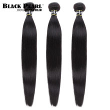 Black pearl Peruvian Hair Weave Bundles 3/4 Bundles Deals 100% Straight Human Ha