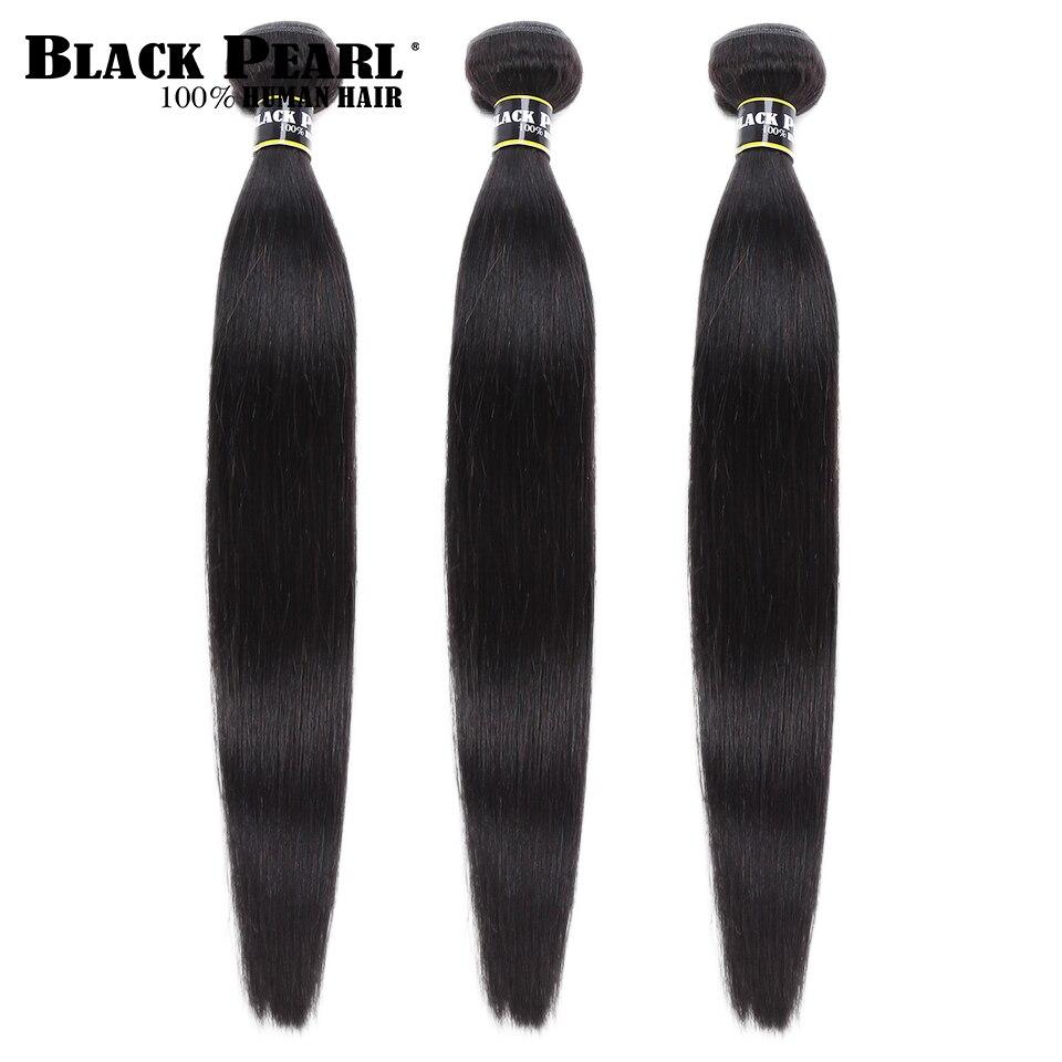 Preto pérola peruano cabelo tecer pacotes 3/4 pacotes ofertas 100% em linha reta feixes de cabelo humano 8 a 30 Polegada remy extensões do cabelo