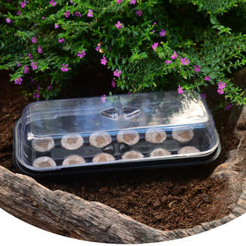 10Pcs/set 2 In 1 Sowing Nursery Pot Seedling Tray with 12 Holes