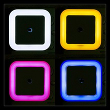 EU/US LED Plug Night Lamp Light Sensor Control Mini Novelty Square Bedroom  65*28MM Russian Belarus