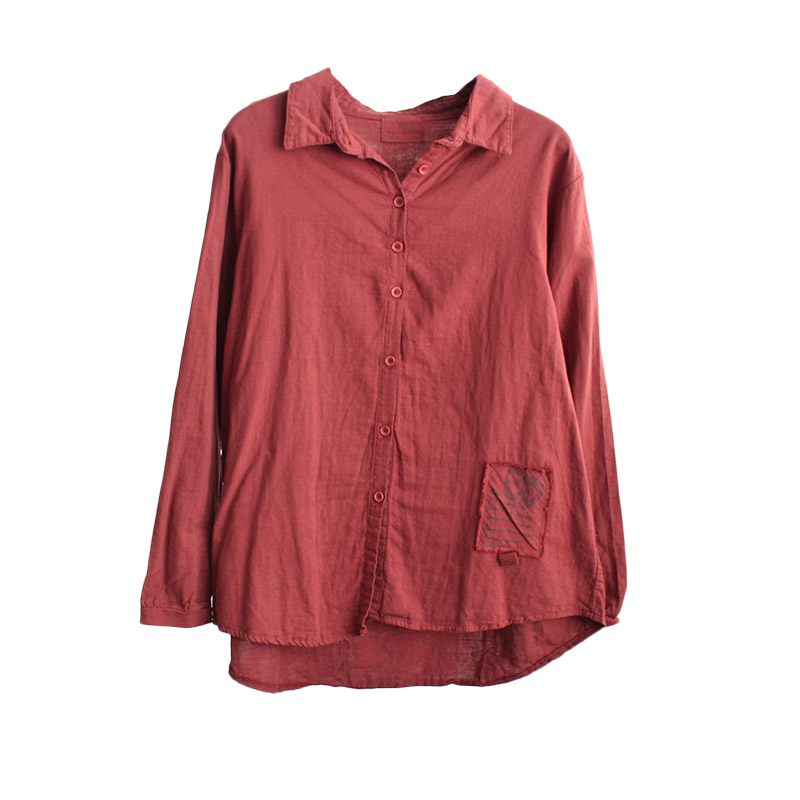 The new shirts female literary restoring ancient ways they loose cotton and linen shirt female autumn coat jacket white shirt in Blouses amp Shirts from Women 39 s Clothing