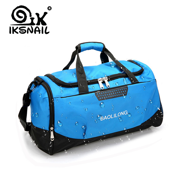 IKSNAIL Professional Waterproof Large Sports Gym Bag With Shoes Pocket Men/Women Outdoor Fitness Training  Bag Travel  Handbag