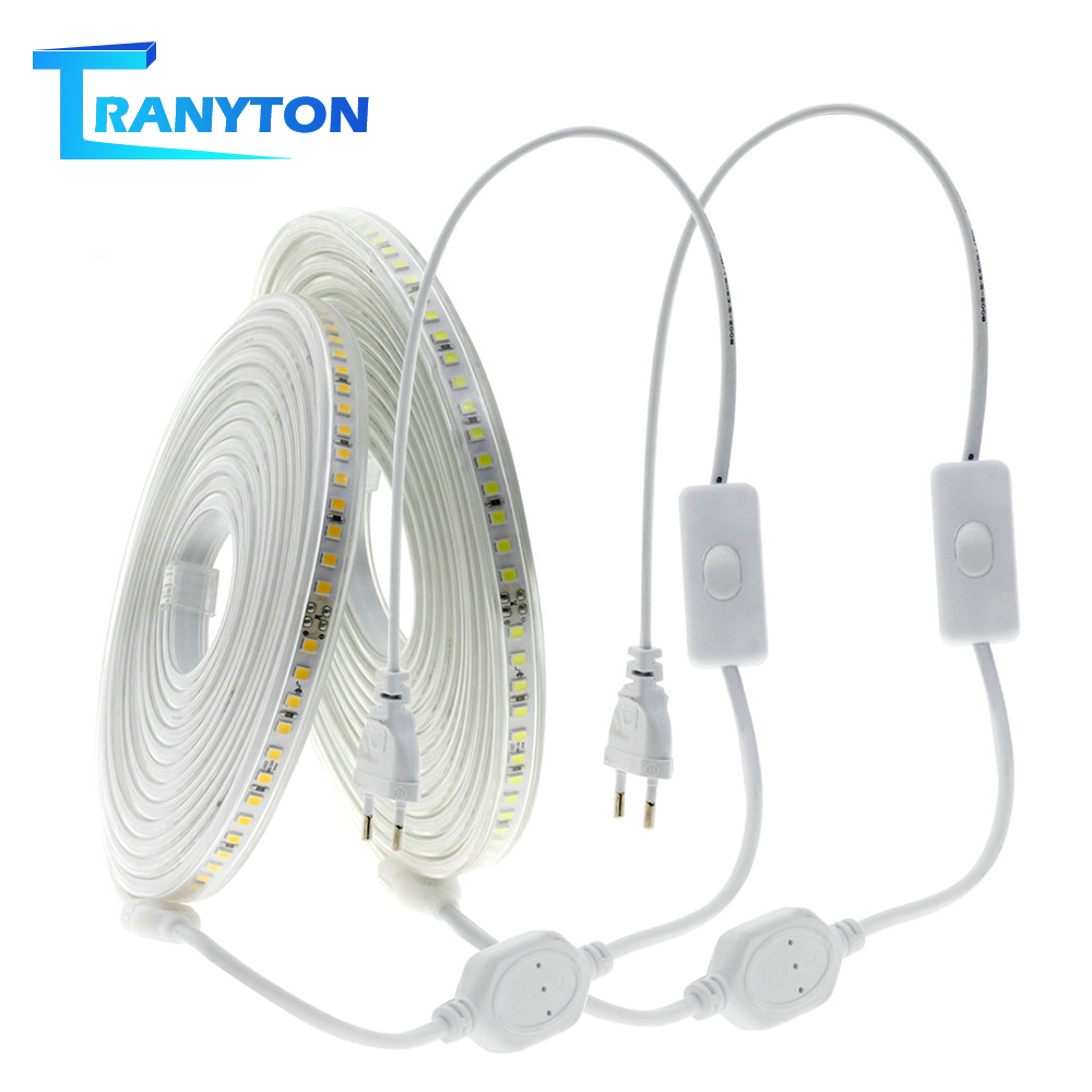 AC220V LED Strip 4040 Highest Brightness 120LEDs/m Outdoor Indoor Decorative Lighting White/Warm White/Neutral White LED Strips