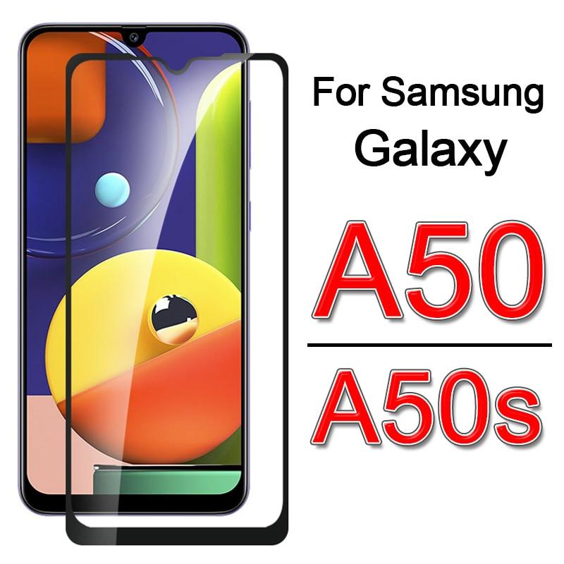 Vidro temperado para samsung a50 a 50 s gaxaly 50 s 50a s50 filme protetor de tela de cobertura completa na galáxia a 50 a50s vidro de segurança