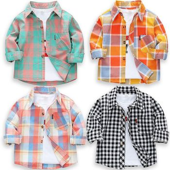 2020 New Toddler Boys Shirts Long Sleeve Plaid Shirt For Kids Spring Autumn Children Clothes Casual Cotton Shirts Tops 24M-9Y ciciibear children boys shirts spring 2020 cotton kids baby shirts children clothing shirt long sleeve
