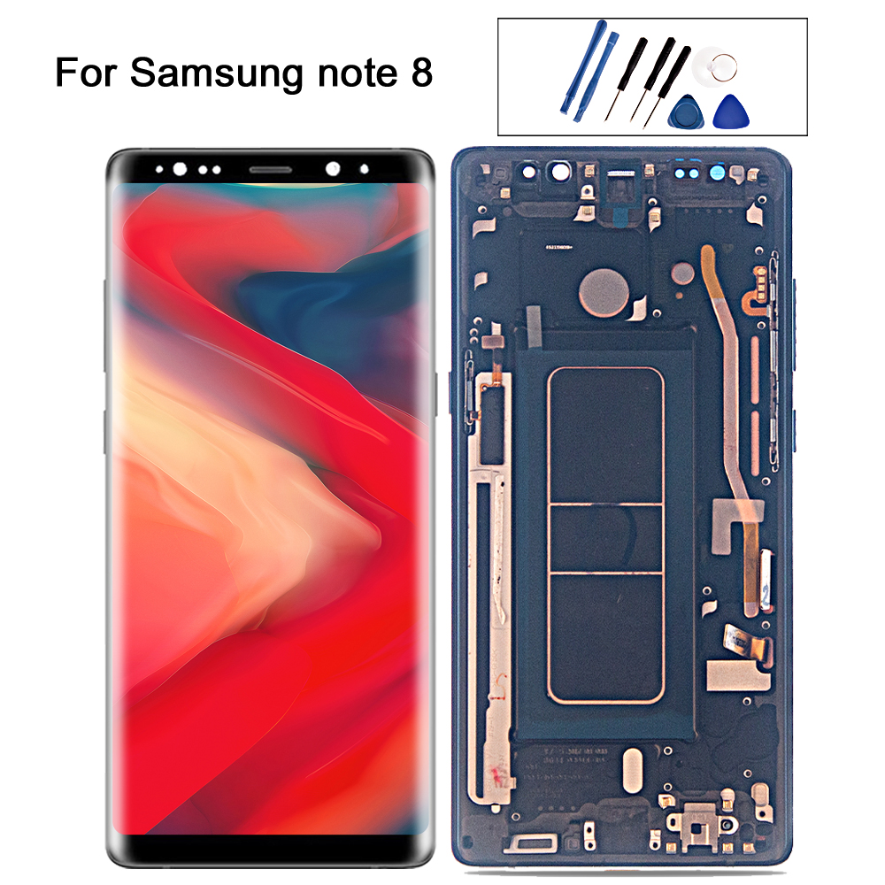Super AMOLED <font><b>For</b></font> <font><b>SAMSUNG</b></font> <font><b>Galaxy</b></font> <font><b>Note</b></font> <font><b>8</b></font> note8 LCD Display Touch <font><b>Screen</b></font> N950 <font><b>N950F</b></font> N950D N950DS N950U lcd Assembly Replacement image