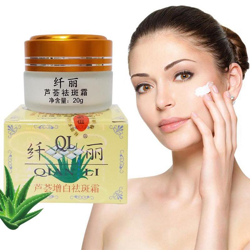 Natural Aloe Powerful Whitening Cream Remove Freckle Cream Spots Melasma Pigment Melanin Remove Face Cream Skin Care