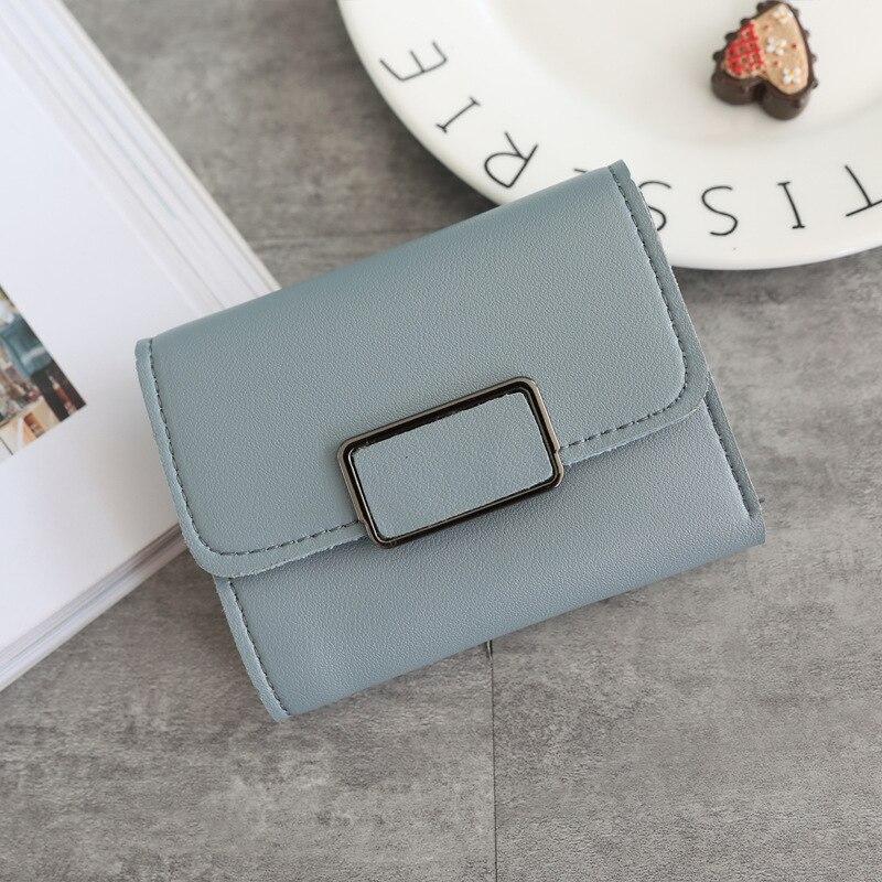Женские кошельки, Маленький модный брендовый кожаный кошелек для женщин, женская сумка для карт, клатч, Женский кошелек, кошелек с зажимом для денег - Цвет: Square-Blue