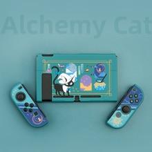 אלכימיה חתול מתג מגן מעטפת קשיח כיסוי עמיד הלם JoyCon בקר פיצול שיכון מקרה עבור Nintendo מתג אבזרים